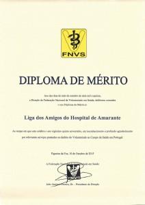 FNVS - Diploma de Merito 25 Anos